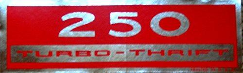 CHEVROLET 250 TURBO-THRIFT 155 HP - HORSEPOWER VALVE COVER DECAL 2pc SET - STICKER NEW ()