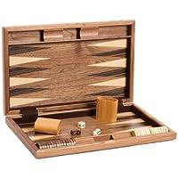 """CHH 19"""" Fancy Walnut Backgammon Set"""