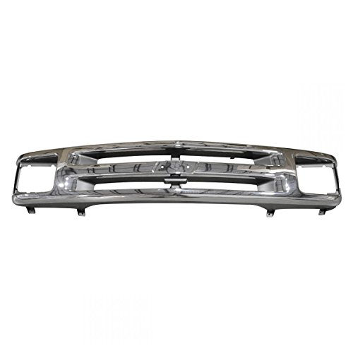 Chrome and Argent Front End Grill Grille for 95-97 Chevy S10 Pickup Blazer Chrome Argent Grille Grill
