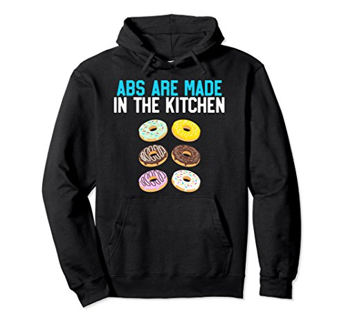 Unisex Donut Abs Are Made In The Kitchen, Funny Doughnut Workout 2XL Black