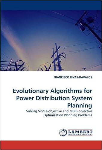 amazon evolutionary algorithms for power distribution system