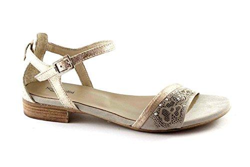 NEGRO JARDINES 15712 platino sandalias de correa zapatos de tacón Beige