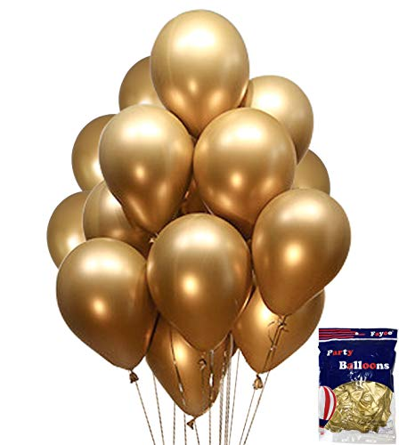 - Fayoo Gold Balloons, 12'' Gold Metallic Latex Party Balloons for Party Decorations, Baby Shower, Christmas Decorations, Birthdays, Bridal Shower, Valentine's Day, Graduation 48PCS