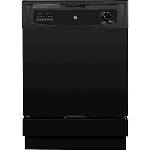 GE GSD3300KBB 24″ Built In Full Console Dishwasher with 5 Wash Cycles, in Black