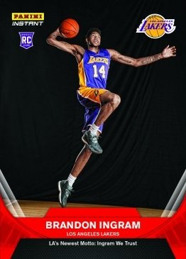 2016-17 Panini Instant NBA #10 Brandon Ingram Basketball Rookie Card - His first official Lakers Rookie Card - Only 492 made!