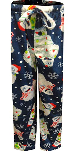 Rudolph the Red Nosed Reindeer Men's Bumble Lounge Pants, White, XL (Snow Monster From Rudolph The Red Nosed Reindeer)