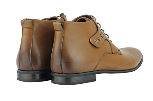 pelle in lacci Derby scarpe Designer nero Nuovo Italiano uomo Brown con caviglia sintetica Smart Casual marrone alla da IqUwZUpCxH