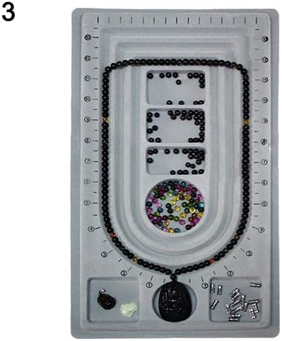 Jewelry Beading Board Bracelet Beading Tray Meter Panel Necklace Design DIY Craft Tool 7 Color 18 Grid Tray qsbai
