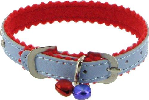 Kakadu Pet Wilshire Dog or Cat Collar with Bell, 3/8″ x 12″, Blue, My Pet Supplies