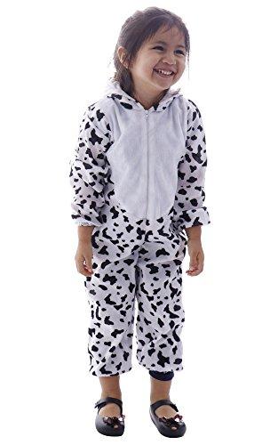 Spooktacular Kids' Kigurumi Unicorn Animal Halloween Costume - Cow,L -