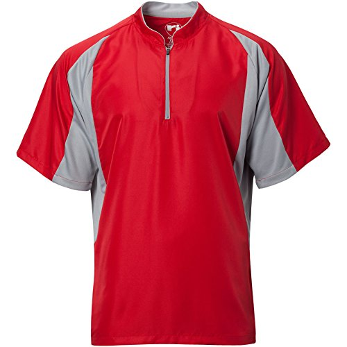 Wire2wire Mens Performance Short Sleeve Cage Jacket Red/Grey XL