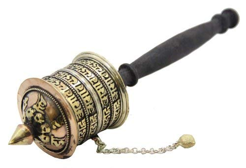 Tibetan Prayer Wheel - Tibetan Buddhist Om Mani Handmade Copper Prayer Wheel