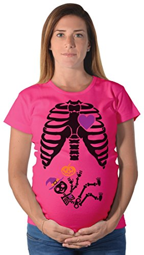 Tstars Halloween Pregnant Black Skeleton Xray Costume Cute