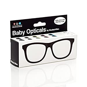 FCTRY - Baby Opticals, Black Clear UV Glasses, Ages 0-2