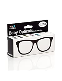 Mustachifier Baby Opticals Polarized Sunglasses, Black Frame , Ages 0-2