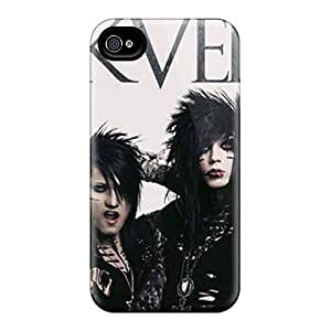 Shock-Absorbing Hard Cell-phone Case For Apple Iphone 4/4s With Customized HD Black Veil Brides Series JohnPrimeauMaurice