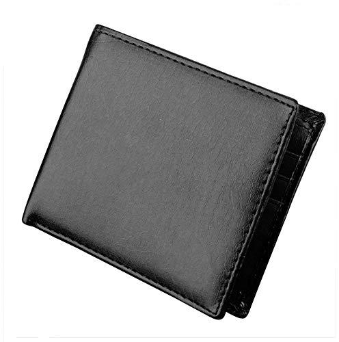 Kikole Men Synthetic Leather Wallet Short Bifold Wallets Money Pockets Credit/ID Cards Holder Purse