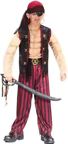 Childrenu0027s Muscle Pirate Costume (SizeMD ...  sc 1 st  Amazon.com & Amazon.com: Childrenu0027s Muscle Pirate Costume (Size:MD 8-10): Clothing