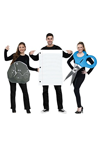 Clever Cute Halloween Costumes (Fun World Men's Rock Paper Scissors Costume, Multi,)