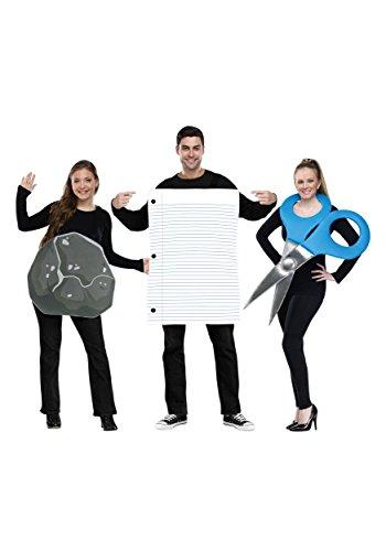 Group Movie Costume Ideas (Fun World Men's Rock Paper Scissors Costume, Multi,)