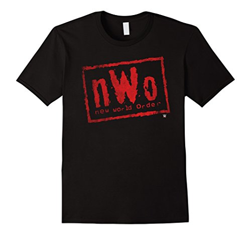 Mens nWo New World Order WWE Wrestling Logo Graphic T-Shirt XL Black by WWE