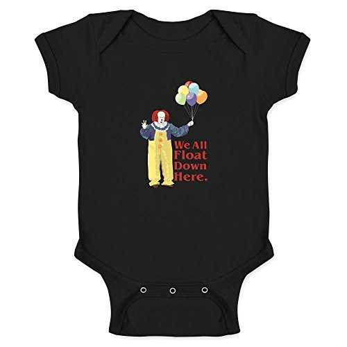 Pop Threads Clown Float Down Here Minimalist Halloween Costume Black 24M Infant Bodysuit