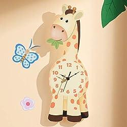 Fantasy Fields Sunny Safari Kids Wall Clock, Yellow/Giraffe