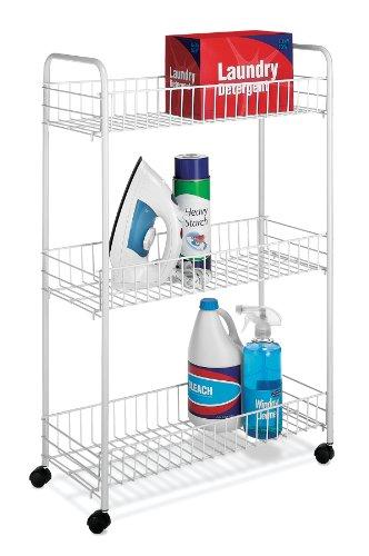 Whitmor 6023-323 Slim Household Cart, White