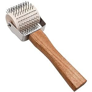 Miel Uncapping rodillo extracción de aguja mango de madera Abeja Miel Peine Herramienta de la Apicultura equipo herramienta de mano abeja colmena Apicultor