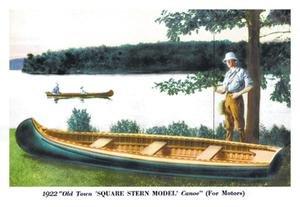 Buyenlarge Square Stern Model' Canoe Fine Art Canvas Print (28