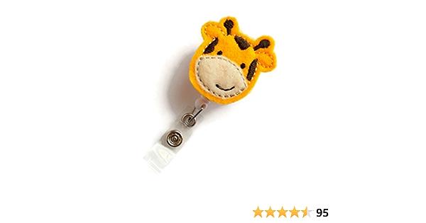 Sparkly giraffe badge reel