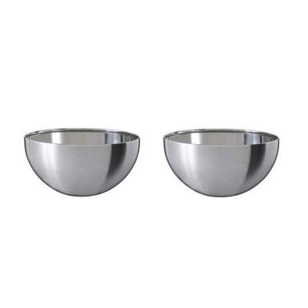"""Ikea Stainless Steel Serving Bowl (2 Pack) 5"""" Blanda Blank"""