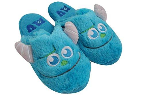 ACVIP Women's Plush Cartoon Slip On Slippers Home House Shoes Blue zkPWigJ