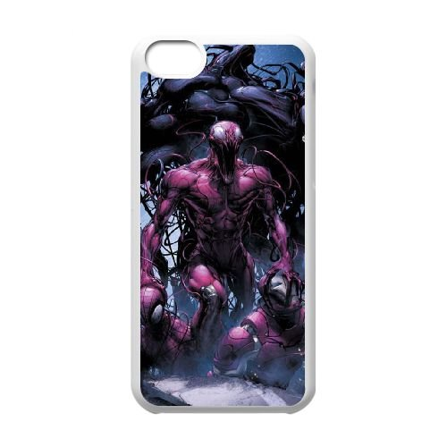 M2X52 Carnage X7M9GX cas d'coque iPhone de téléphone cellulaire 5c couvercle coque blanche WX5DCA2DL