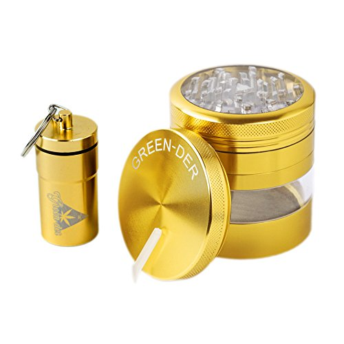 Weed Grinder And Airtight Container 4pc Large Tobacco And