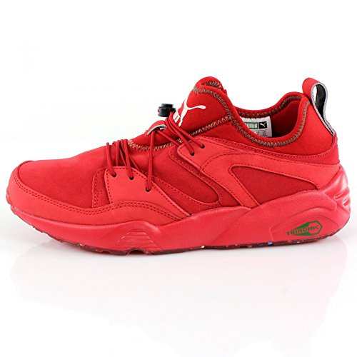 Puma Bog Soft Flag Trinomic Sneaker Men Leder 361891 03 red Rot