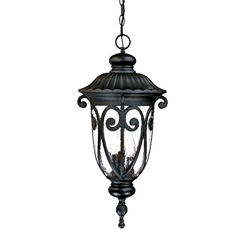 Acclaim 2126BK Naples Collection 3-Light Outdoor Light Fixture Hanging Lantern, Matte Black Acclaim Lighting Naples Collection