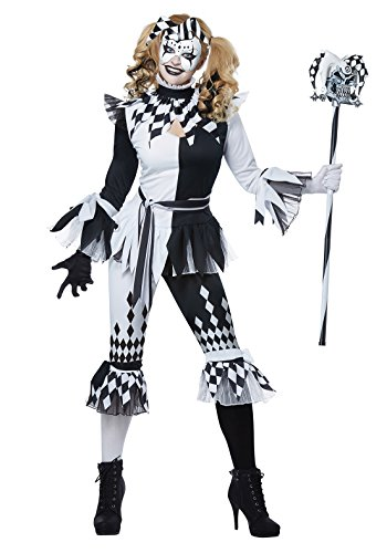 California Costumes Crazy Jester Girl Adult Costume-Large