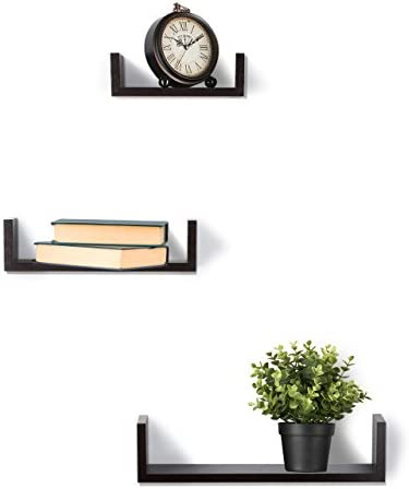 home, kitchen, home décor, home décor accents,  floating shelves 4 discount Floating Shelves Set of 3 Wall Shelves - Espresso deals