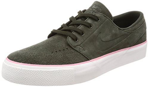 NIKE Men's SB Zoom Janoski HT Sequoia/Sequoia/Elemental Pink Skate Shoe 9 Men US