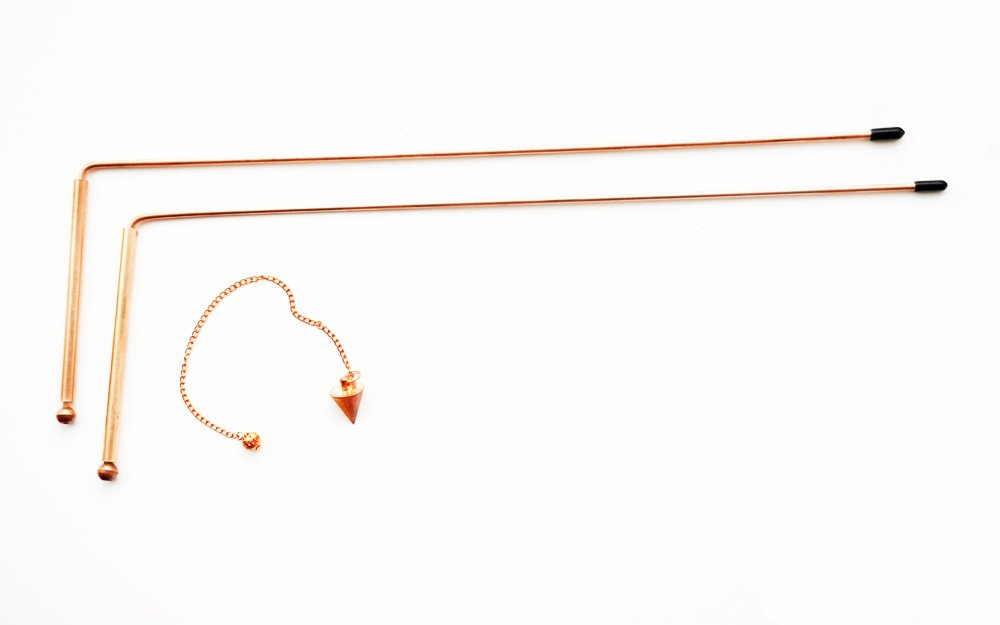 99% Pure - Copper Dowsing Rod Set Includes 2 Diving RODS and a Copper Pendulum Both Great Tools to Explore The Art of Dowsing