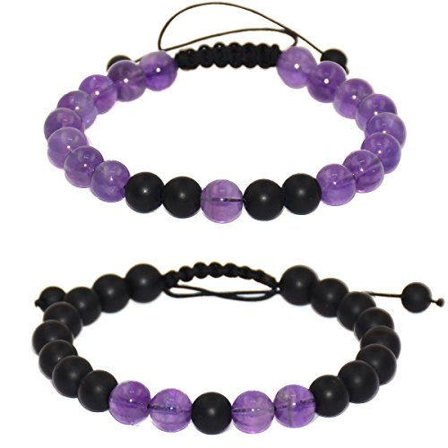 9c5b724aa3 Massive Beads Friendship Relationship Couples Distance Adjustable Round  Beads Bracelet Gems& Jewelry Box