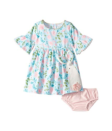 Mud Pie Baby Girl's Bunny Dress (Infant/Toddler) Blue 3T (Mud Pie Dresses Girls 3t)
