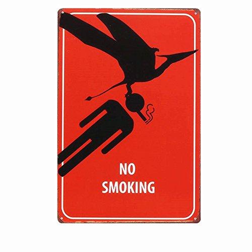 NO SMOKING Metal Sign Tin Signs Retro Shabby Wall Plaque Metal Poster Plate 20x30cm Wall Art Coffee Shop Pub Bar Home Hotel Decor