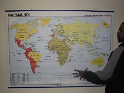 Amazon world map of spanish speaking countries wall maps world map of spanish speaking countries gumiabroncs Choice Image