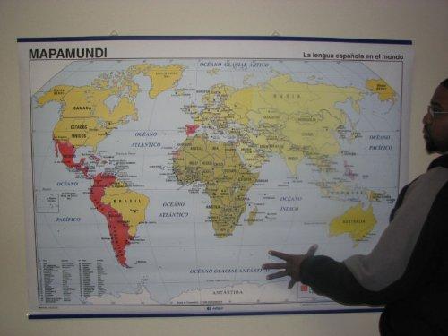 (World Map of Spanish Speaking Countries)