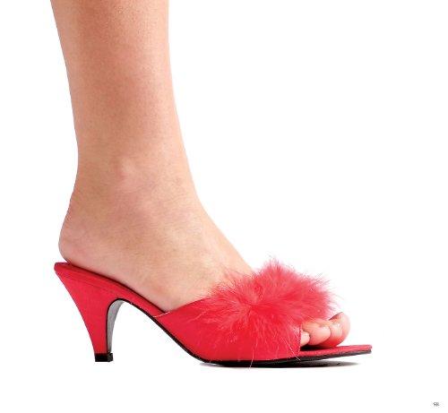 Scarpe Da Donna Ellie Scarpe Da 2,5 Pollici In Raso Rosso Maribù Pantofole Rosse