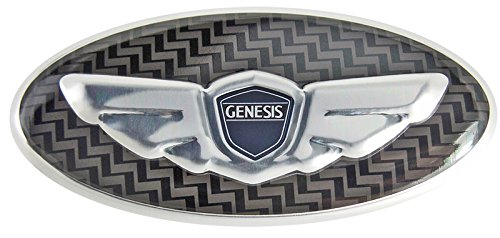 3D Carbon Optic Genesis Wing Steering Wheel Emblem Overlay for Genesis Coupe & Sedan (Loden) ()