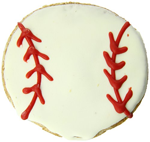 [Pawsitively Gourmet Baseball Cookies for Dogs] (Holiday Dog Cookies)