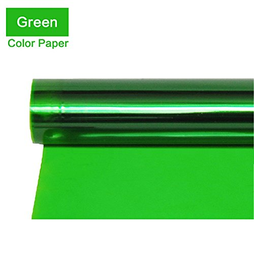 Meking Professional 16x20 Inch Green Gels Color Filter Paper Correction Gel Lighting Filter for Photo Studio Light Red Head Light Strobe Flashlight - Green